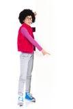 Nerdy Mädchenzeigen Lizenzfreie Stockbilder