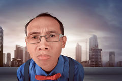 Nerdy man confused expression Royalty Free Stock Photo