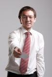Nerdy manager Stock Image
