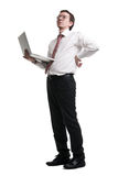 Nerdy manager Royalty Free Stock Photos
