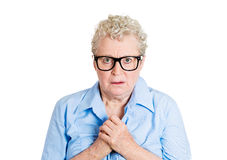 Nerdy old woman Stock Photography