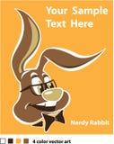 Nerdy rabbit Stock Photos