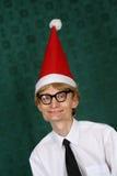 nerdy santa royaltyfri foto