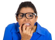 Nerdy woman Stock Images
