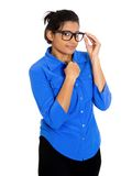 Nerdy woman Royalty Free Stock Images