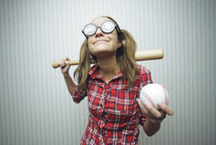 Nerdy woman Stock Photography