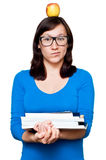 Nerdy young female Stock Images