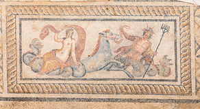 Nereid and Triton Mosaic in Terrace Houses, Ephesus Ancient City Stock Photography