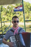 NERETVA, KROATIË, 30 SEPTEMBER, 2017: Kroatische Zanger, Dalmatië Royalty-vrije Stock Foto's