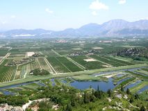Neretva river delta Royalty Free Stock Images