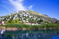 Neretva river delta in Croatia Stock Images