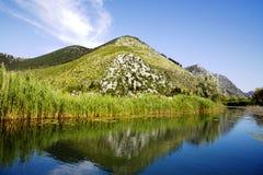 Neretva river delta in Croatia Royalty Free Stock Image