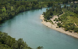 Neretva river near Pocitelj village. Bosnia and Herzegovina Stock Images