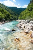 Neretva River Stream In Bosnian Mountains Stock Photography