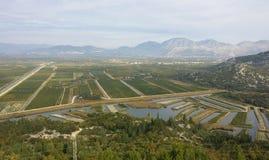 Neretva valley Royalty Free Stock Images