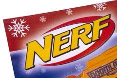 NERF-Embleem in een Catalogus stock foto's