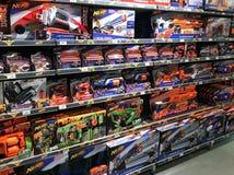 NERF-schuimstuk speelgoed kanonnen stock foto