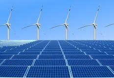 Énergie favorable à l'environnement et renouvelable Photo libre de droits