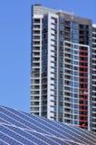 Énergie solaire dans l'Australie Photo stock