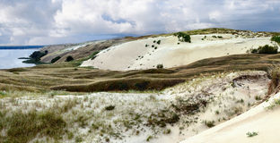 Neringa - national park of Lithuania. Death dunes panoramic view Royalty Free Stock Photo