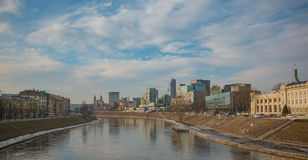 Neris Cityscape III. A picture of Vilnius` cityscape along the Neris river Stock Image