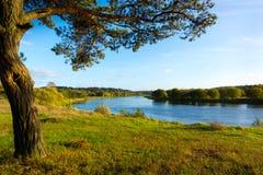 Neris flod Arkivfoto