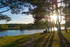 Neris flod Royaltyfria Foton