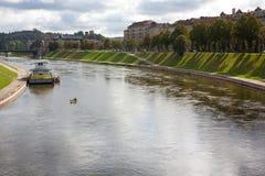 Neris flod Arkivbilder