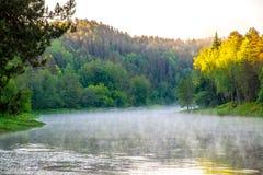 Neris regionaal park in Litouwen stock afbeelding