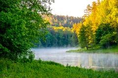 Neris regionaal park in Litouwen royalty-vrije stock foto