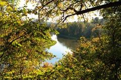 Neris river Stock Image
