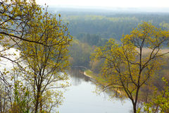 Neris River in spring stock photography