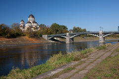 Neris river in Vilnius Royalty Free Stock Photo