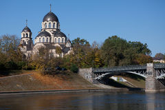 Neris river in Vilnius Stock Images