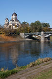 Neris river in Vilnius Royalty Free Stock Photography