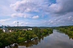 Neris River in Vilnius City Stock Photography