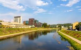 Neris River in Vilnius Royalty Free Stock Images