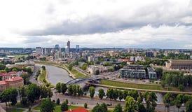 Neris river in Vilnius Stock Photos