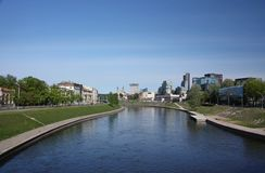 Neris River in Vilnius. Lithuania Stock Photo