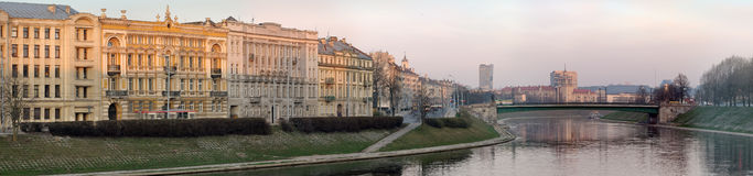 Neris river at Vilnius Royalty Free Stock Photography