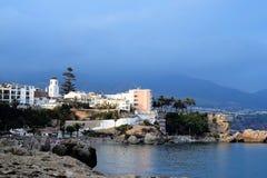 Nerja Andalusia panoramautsikt Royaltyfri Fotografi
