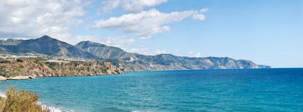 Nerja Beach and City Royalty Free Stock Images