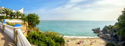 Nerja beach. Malaga province, Costa del Sol, Andalusia, Spain Royalty Free Stock Images