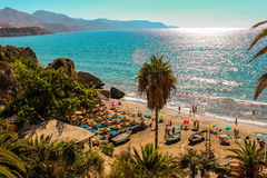 Nerja Beach, Malaga Royalty Free Stock Photography