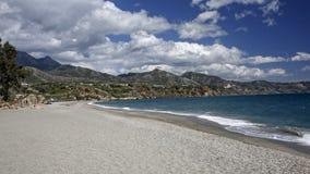 Nerja beroemde toevlucht op Costa del Sol, Spanje royalty-vrije stock foto's