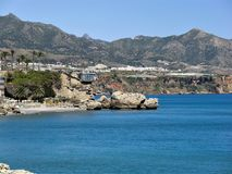 Nerja coastline, Spain Stock Photos