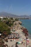 Nerja, Costa del Sol, Spain. Nerja famous resort on Costa del Sol, Malaga, Spain Royalty Free Stock Images