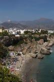 Nerja, Costa del Sol, Spain. Nerja famous resort on Costa del Sol, Malaga, Spain Stock Photo