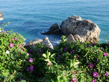 Nerja Costal Scene Stock Photo