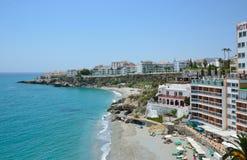 Nerja en la Costa del Sol en resorte Foto de archivo libre de regalías